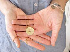 Metal Stamping! Metal Monogram Necklace | http://diyready.com/metal-stamping-ideas-diy-projects/