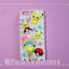 So very cute!!!! Kawaii Pokemon Decoden iPhone 5/5s Case by PixieAddictions on Etsy, $25.00