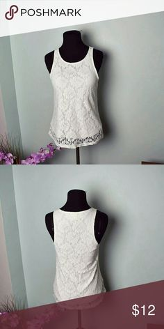 Gorgeous Ivory Floral Lace Blouse In excellent condition. Very beautiful. Tops Blouses