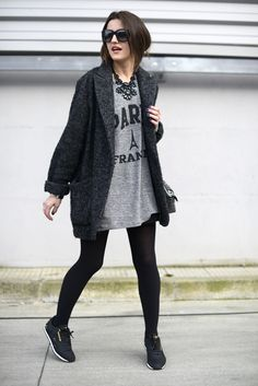 ★ //» oversized black sneakers