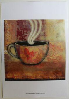 Coffee Cup Art Print, Rich & Smooth I, by Norman Wyatt Jr. | eBay $20.99