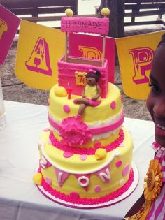 Tabitha K's Birthday / Sunshine & Lemonade - Photo Gallery at Catch My Party Birthday Party Decorations, Birthday Parties, Party Themes, Birthday Ideas, Pink Lemonade Cake, Lemon Party, Dessert Stand, Types Of Cakes, Custom Cookies