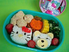 Hello Kitty and Bear Bento Box Recipe
