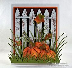 Kittie Caracciolo: KittieKraft -  Impression Obsession Fall/ Winter Release Hop Day 1 -  (IO:  Pumpkin Pair/ Lg. Fence)