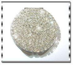 Diamond Clear Crystal Rhinestone Purse Cosmetic Makeup Mirror! USA by GlamourByKim on Etsy
