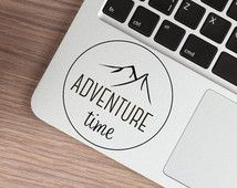 Adventure Time Macbook Decal, Mountains Hiking Laptop Sticker, Tumblr Ipad decal, Freedom Camping stickers, Macbook Pro Sticker,  Car Decal