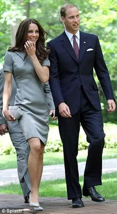 Duke and Duchess of Cambridge, dress by Catherine Walker