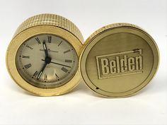 Vintage Alarm Clock Selco Geneva Gold Coin Kaleidoscope Vintage Travel Alarm Company Award Clock Vintage Clock by DublinsAttic on Etsy