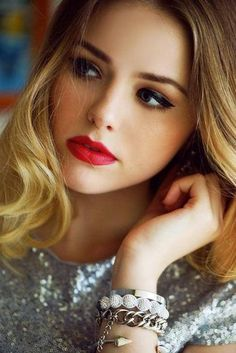 By Alex Smith. Love the dramatic yet, not too dramatic eyes and the red lips! @BLOOM.COM