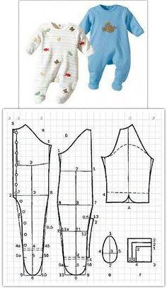 20 Easy Sewing Projects for Beginners - Amately Baby Clothes Patterns, Baby Doll Clothes, Kids Patterns, Sewing Clothes, Clothing Patterns, Sewing Patterns, Pattern Ideas, Dress Patterns, Onesie Dress