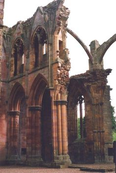 Ruins of Melrose Abbey, Borders, Scotland