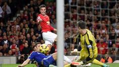 Robin van Persie equalises for Manchester United