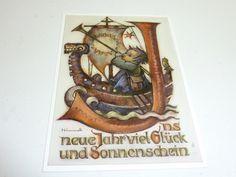 "vintage unused  greeting cards  ARS SACRA   B.I.Hummel ""happy new year""450"""