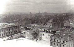 Beresfort Place late 1950s Old Pictures, Old Photos, Gone Days, Dublin Street, Dublin Ireland, Birmingham, Paris Skyline, 1950s, Irish
