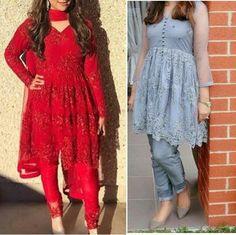 Birthday party dress women pakistani ideas for 2019 Pakistani Frocks, Pakistani Wedding Outfits, Pakistani Dress Design, Pakistani Dresses, Party Wear Frocks, Party Wear Dresses, Party Dresses For Women, Dress Party, Frock Style Kurti