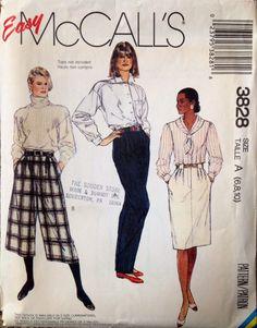 Easy McCall's 3828 UNCUT Misses Skirt and Pants by Lonestarblondie