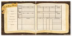 The Paper Loft - For the Record Collection - 12 x 12 Double Sided Paper - Family Group Records at Scrapbook.com $0.89