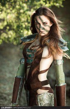 Freaking awesome Aela the Huntress Skyrim Cosplay!
