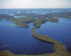 Punkaharju, Finland. There are over 100K lakes in Finland, and this one is just one of them.