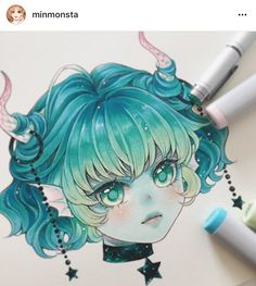 Gemini ♊️ ✨ Other than a zodiac devil she can also be a certain ice cream brand's mascot lololol . Preorder for zodiac charms will be up… Copic Marker Art, Copic Art, Art Kawaii, Chibi Kawaii, Anime Kawaii, Copic Drawings, Kawaii Drawings, Cute Drawings, Manga Drawing