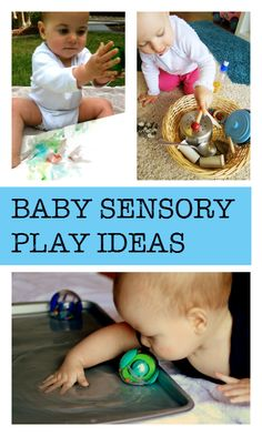 Lots of baby sensory play ideas Baby Sensory Play, Sensory Activities, Baby Play, Infant Activities, Learning Activities, Activities For Kids, Sensory Bins, Teaching Babies, Baby Learning