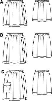 Elastic Waist Skirt 06/2015 #108A