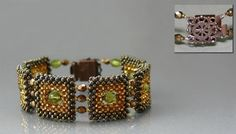 """Free Bracelet """"Squares"""" Pattern by Galina Kolmogorov featured in recent Bead-Patterns.com Newsletter!"""