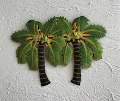 Our Terrific Twin Canary Palm Tree Wall Art Is Hand Crafted By Caribbean S From Recycled Tropical Decormetal