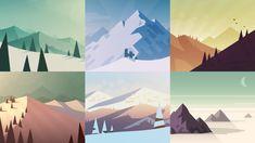 Landscapes Design in Alto's Adventure