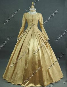 Victorian Classic Belle Princess Ball Gown Reenactment Costume Period Dress
