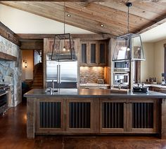 Barn Tin Kitchen Bar Could Use Salvaged Roof Tiles