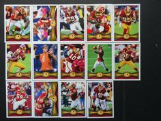 2012 Topps Washington Redskins Team Set of 14 Football Cards #WashingtonRedskins Washington Redskins, Football Cards, Ebay, Soccer Cards