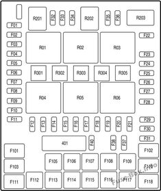 Under-hood fuse box diagram: Ford F-250, F-350, F-450, F