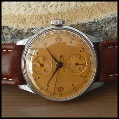 CHRONOGRAPHE SUISSE Vintage Military Chronograph Watch 17j HW Venus Cal. 170 | eBay