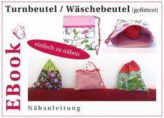 EBook Turnbeutel / Wäschebeutel (gefüttert) von winfine auf DaWanda.com