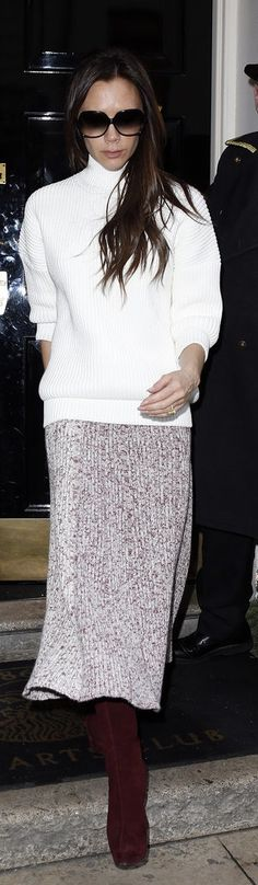 Victoria Beckham makes us want to put on a turtleneck, stat.