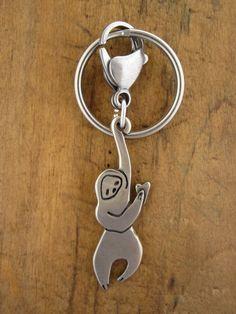 Sloth Keychain by marmarsuperstar on Etsy