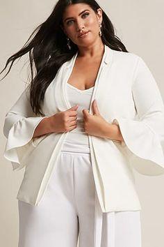 Plus Size Textured Bell-Sleeve Blazer Jetzt bestellen unter: https://mode.ladendirekt.de/damen/bekleidung/blazer/sonstige-blazer/?uid=ecea57db-43e4-56cb-b86d-7f64e671e655&utm_source=pinterest&utm_medium=pin&utm_campaign=boards #sonstigeblazer #women's #accessories #blazer #clothing #suits #bekleidung Bild Quelle: forever21.com