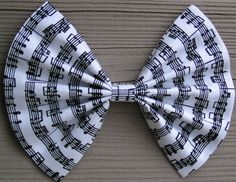 Big Music Notehair bow for teens and womenbig by ClipaBowBoutique, $3.79