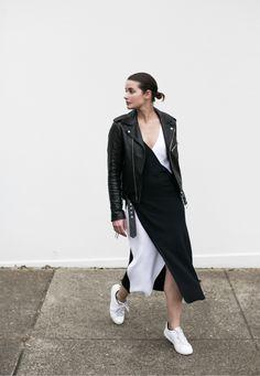 Sydney Fashion Week | Tome Midi Dress | Nike | Leather Jacket | Minimalist | HarperandHarley