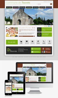 Création du site web de la ville de Touvois (44) #Webdesign #Responsive #Mairie #Ville #Colterr : http://www.touvois.fr