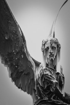 vaporwave statue The unexplored Vaporwave, Yennefer Of Vengerberg, Art Ancien, Cemetery Art, Angel Statues, Arte Horror, Glitch Art, Graphic, Dark Art