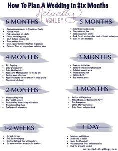 6 Month Wedding Planning Timeline wedding checklist Wedding Planning: How to Plan a Wedding in SIX Months Before Wedding, Wedding Tips, Fall Wedding, Wedding Events, Dream Wedding, Wedding Quotes, Small Wedding Receptions, Wedding Bells, Wedding Costs