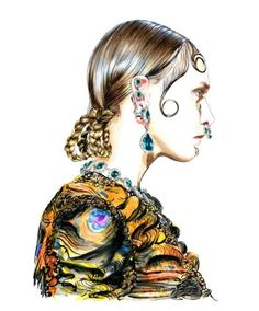 fashionillustration: Illustration.Files: Givenchy F/W 2015...