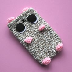 Kawaii Crochet Hamster iPhone Cover by cutedesigns on Etsy