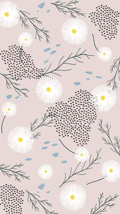 Join rawpixel to access your free images and be a part of the community. Cute Wallpaper Backgrounds, Flower Wallpaper, Pattern Wallpaper, Cute Wallpapers, Iphone Wallpaper, Backgrounds Free, Illustration Inspiration, Digital Illustration, Image Deco