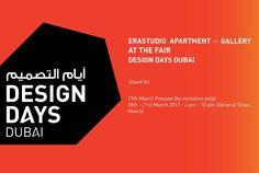 Design Days Dubai 2013 (18th-21st March 2013 - Dubai, UAE. Booth G4). #erastudioapartmentgallery #erastudio #designgallery #design #gallery #fair #artfair #italiandesign #designdaysdubai2013 #dubai #uae #collectibledesign #vincenzodecotiis #gunjangupta #loredanabonora #peterbauhuis #christophedelcourt