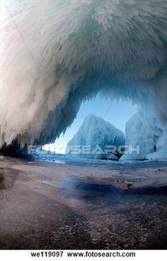 lake baikal ice diamonds   Ice cave on Olkhon island, Lake Baikal, Siberia, Russian Federation ...