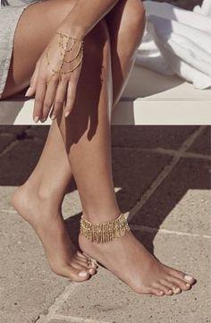 Rebecca Minkoff Rebecca Minkoff Multi Row Beaded Hand Chain Gold