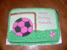 Pink Soccer Ball Cake